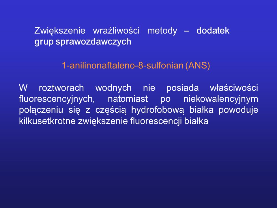 Zwiększenie wrażliwości metody – dodatek grup sprawozdawczych