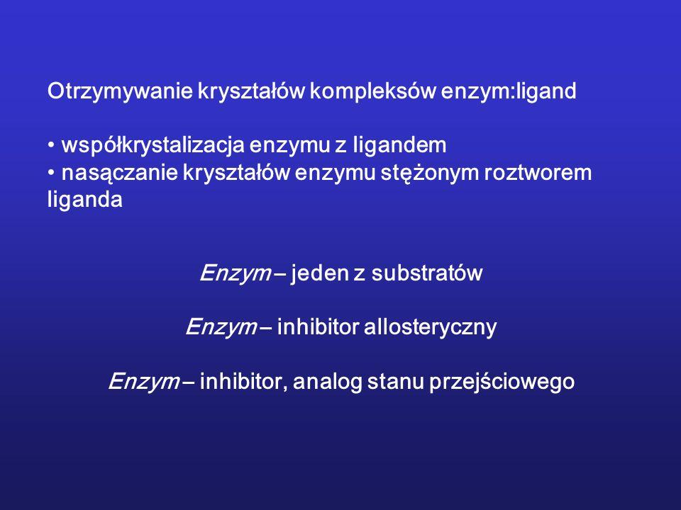 Otrzymywanie kryształów kompleksów enzym:ligand