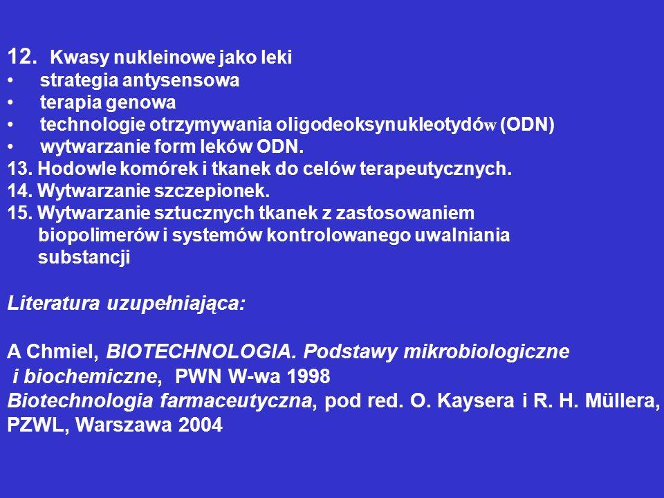 12. Kwasy nukleinowe jako leki