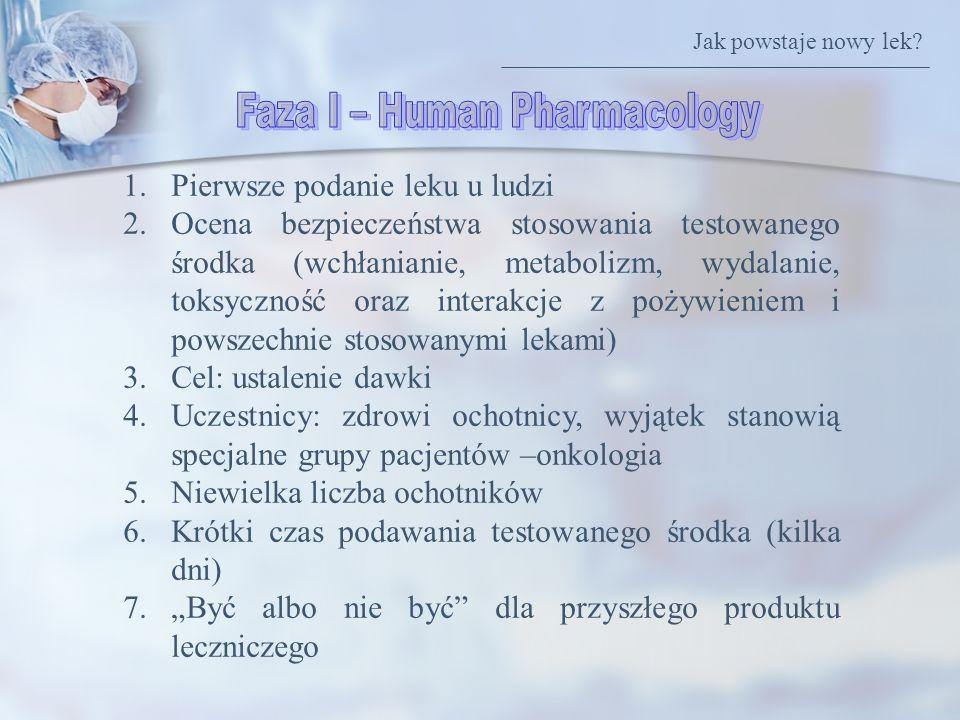 Faza I – Human Pharmacology