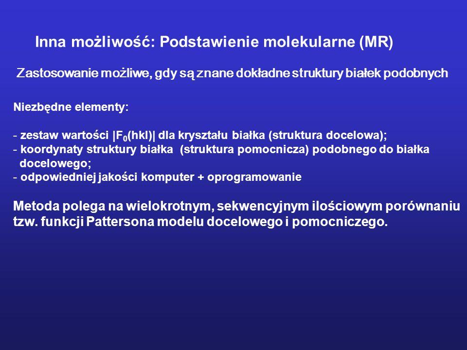 Inna możliwość: Podstawienie molekularne (MR)