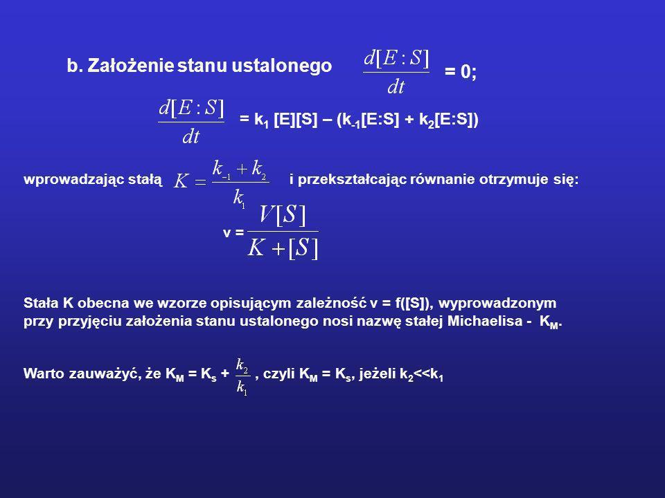 b. Założenie stanu ustalonego = 0;