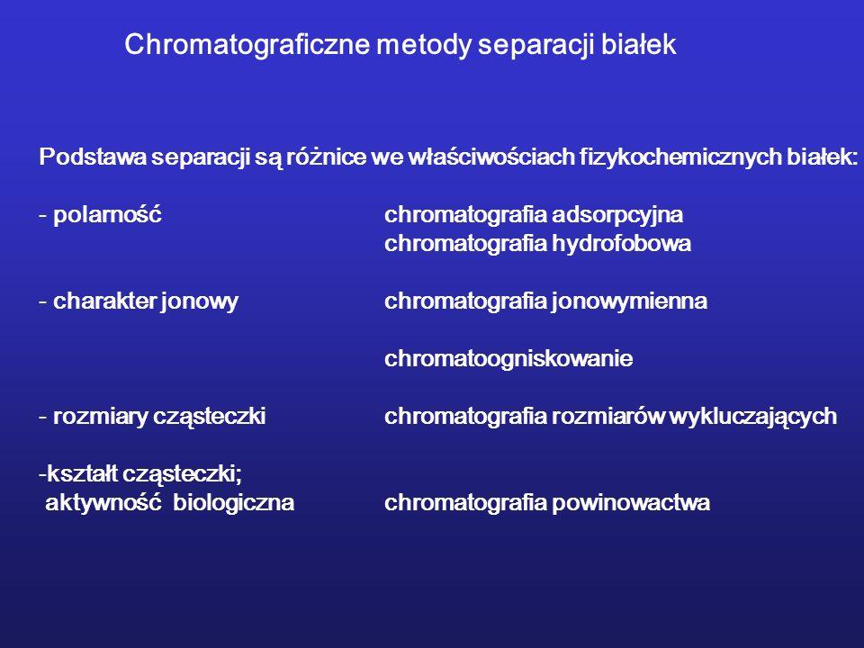 Chromatograficzne metody separacji białek