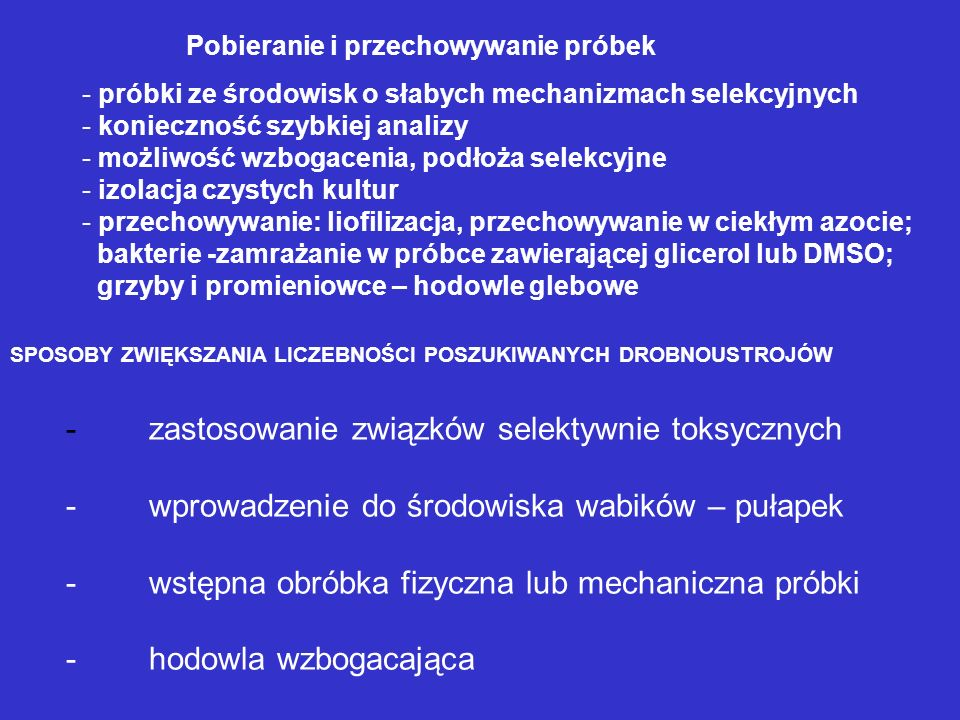 - zastosowanie związków selektywnie toksycznych