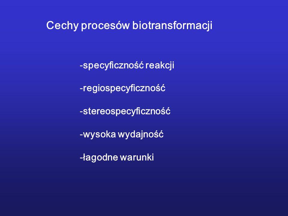 Cechy procesów biotransformacji
