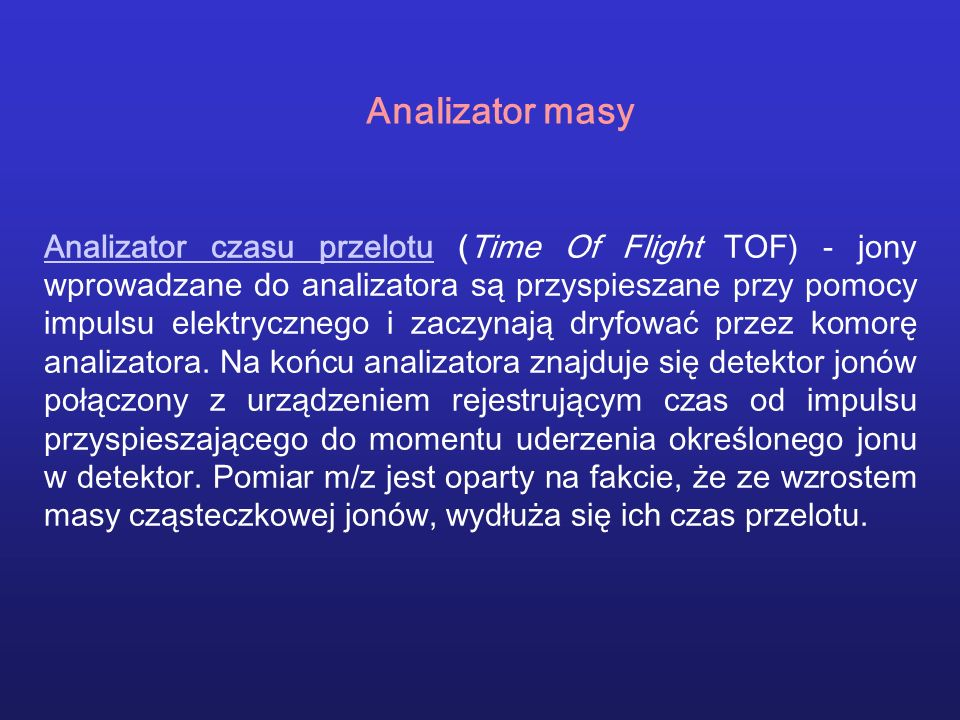 Analizator masy