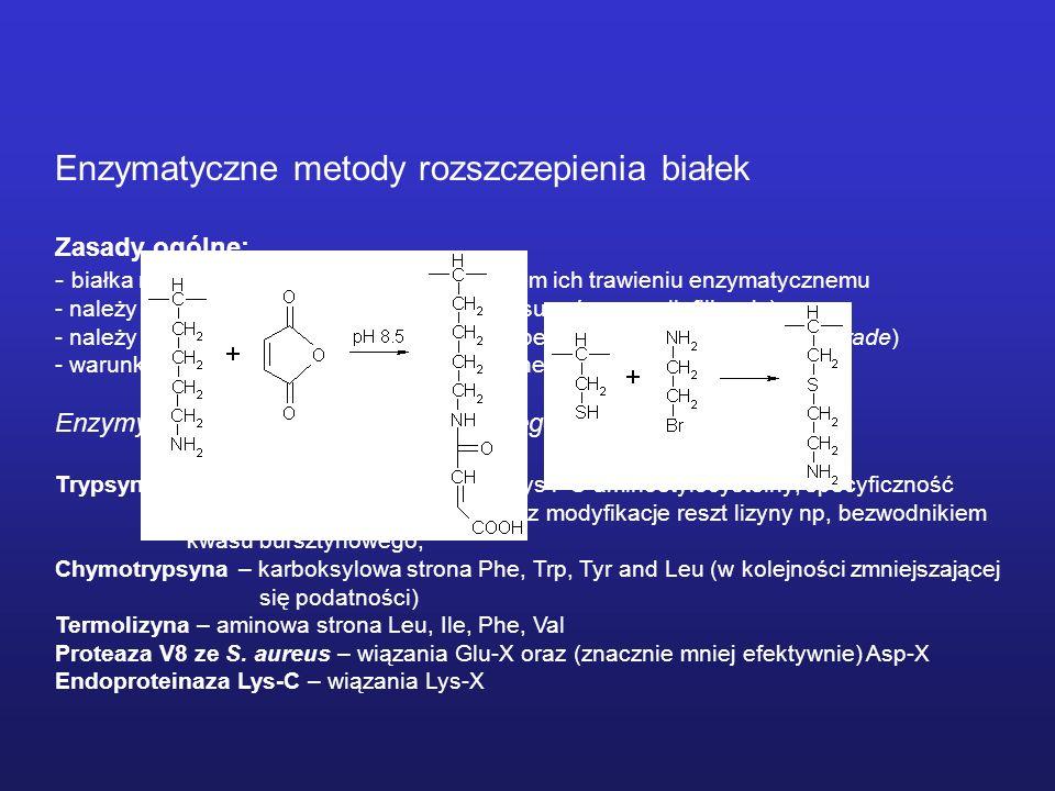 Enzymatyczne metody rozszczepienia białek