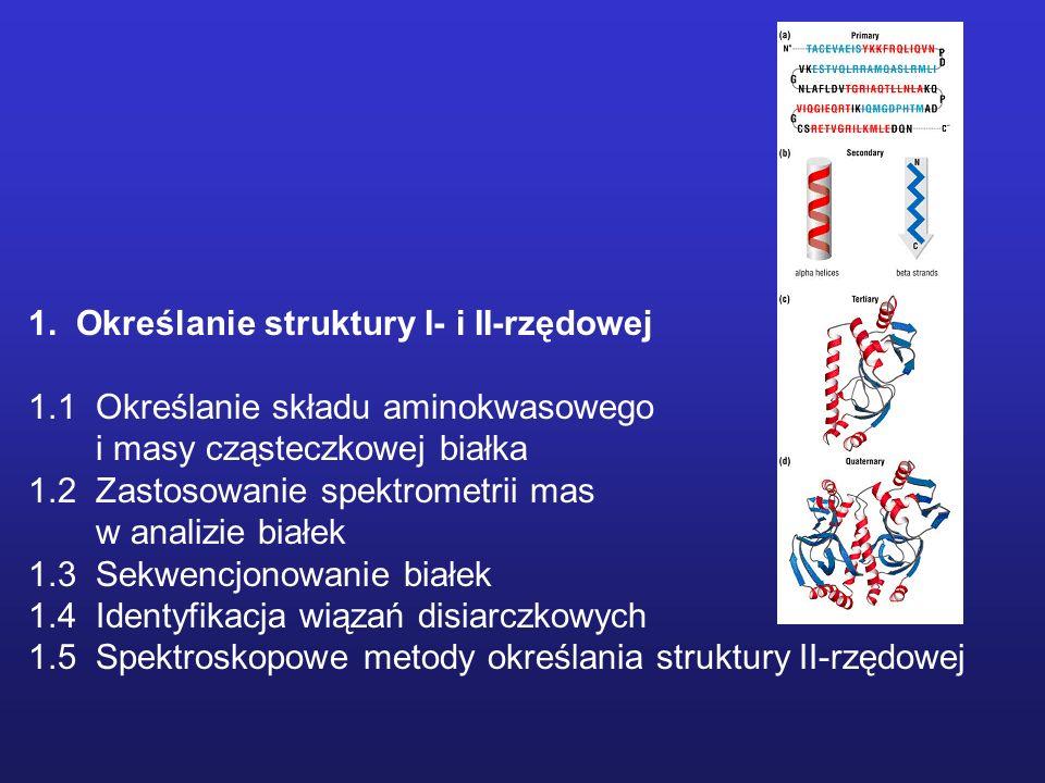 1. Określanie struktury I- i II-rzędowej