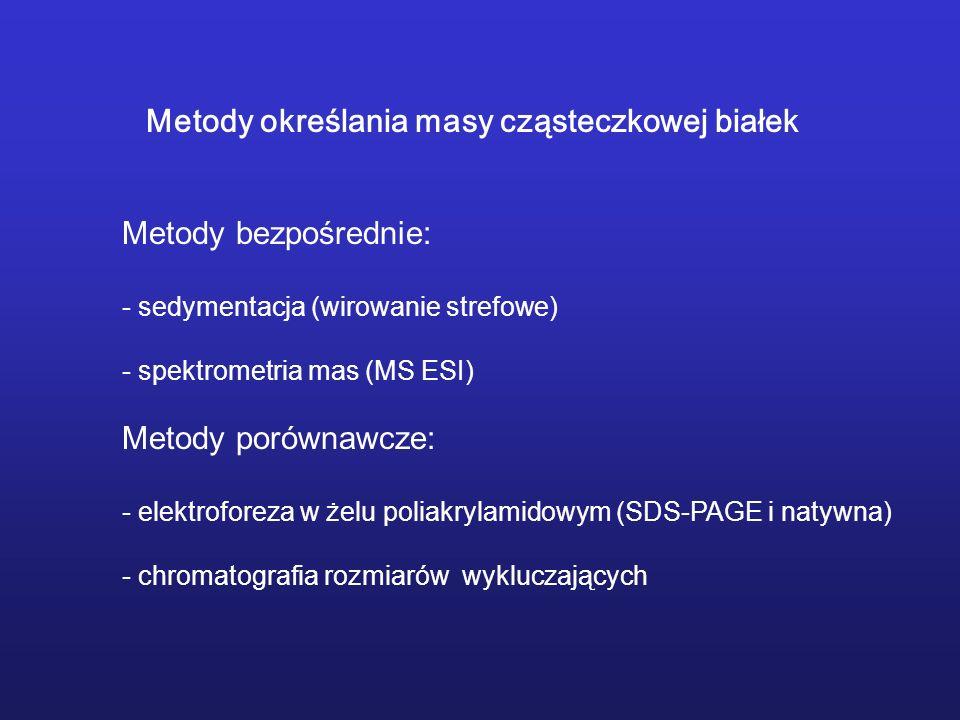Metody określania masy cząsteczkowej białek