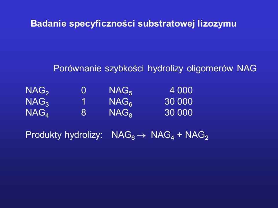 Badanie specyficzności substratowej lizozymu