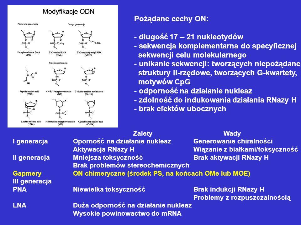 sekwencja komplementarna do specyficznej sekwencji celu molekularnego