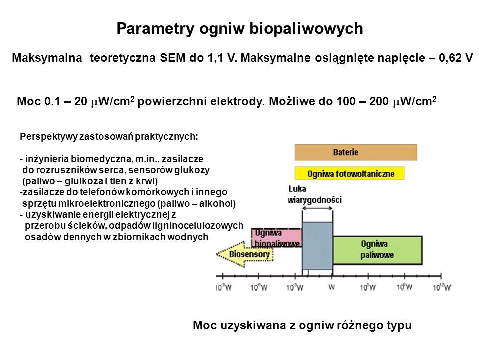 Parametry ogniw biopaliwowych