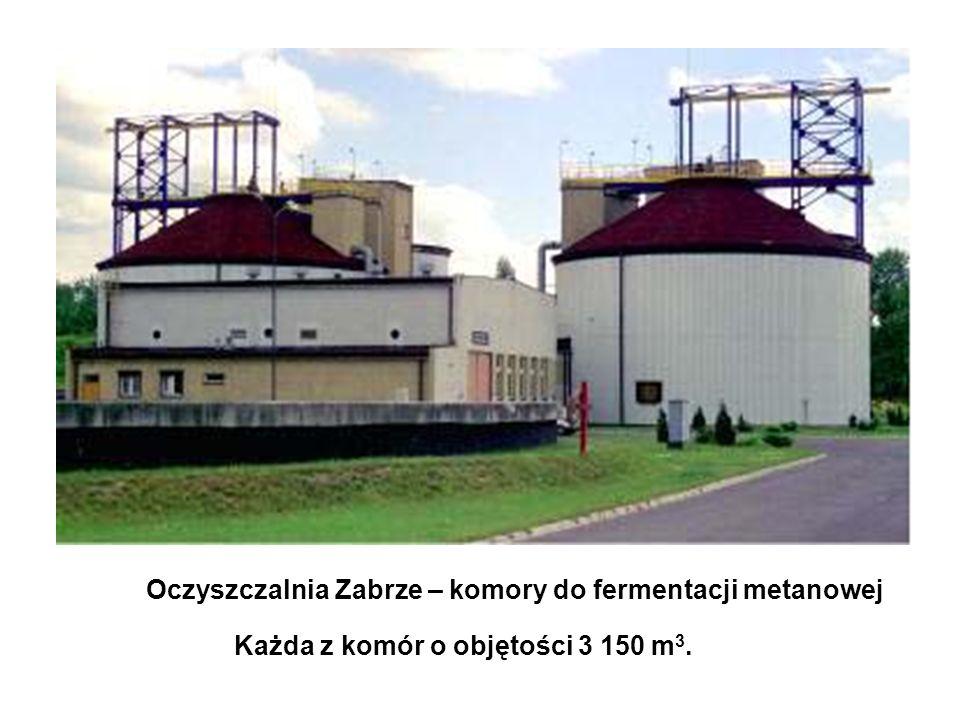 Oczyszczalnia Zabrze – komory do fermentacji metanowej