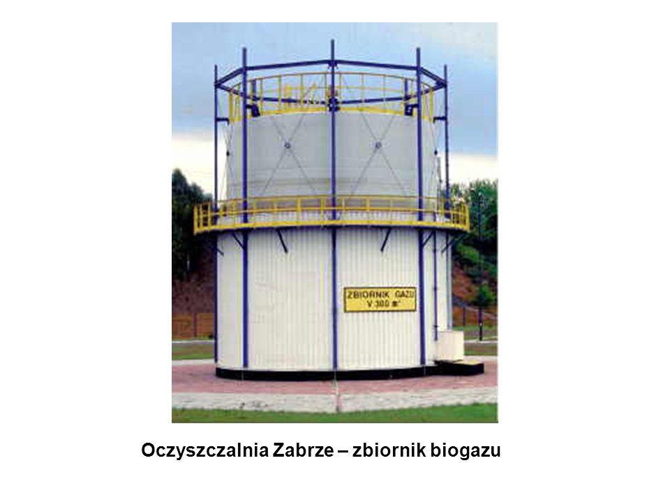 Oczyszczalnia Zabrze – zbiornik biogazu