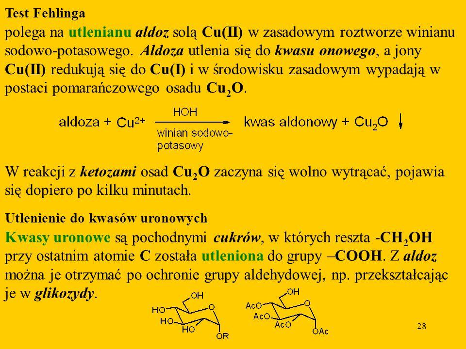 Kwasy uronowe są pochodnymi cukrów, w których reszta -CH2OH