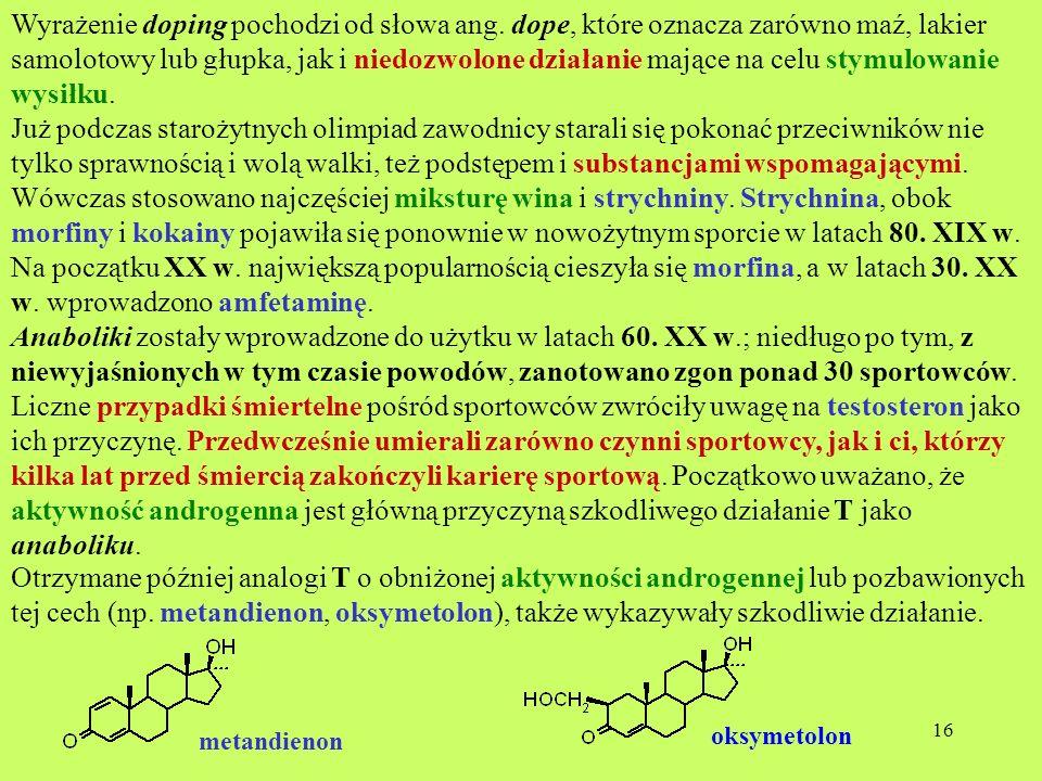Wyrażenie doping pochodzi od słowa ang