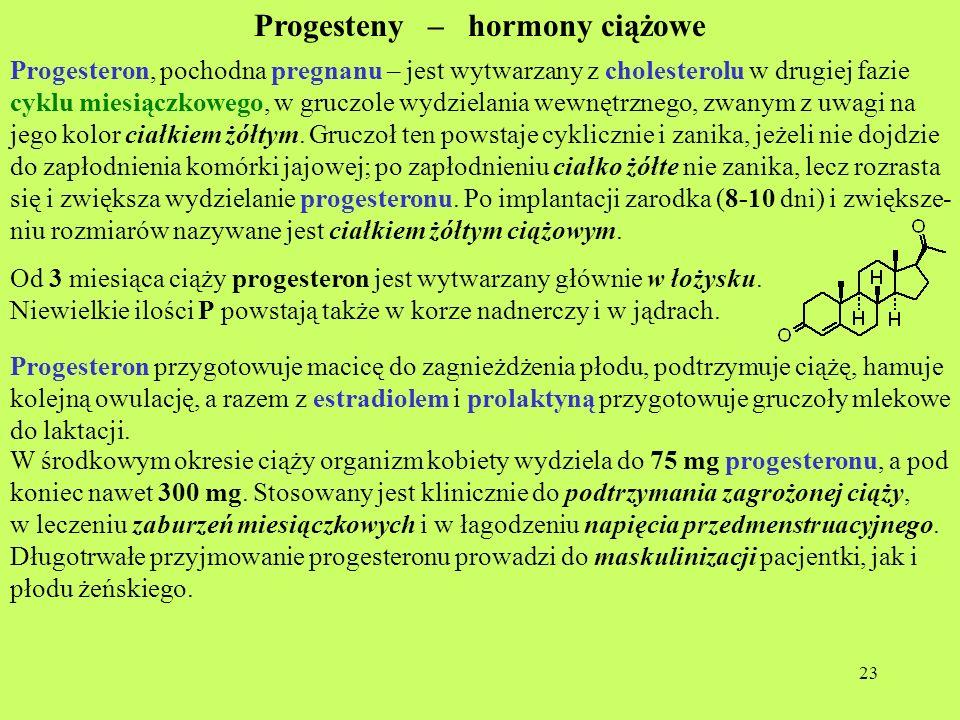 Progesteny – hormony ciążowe