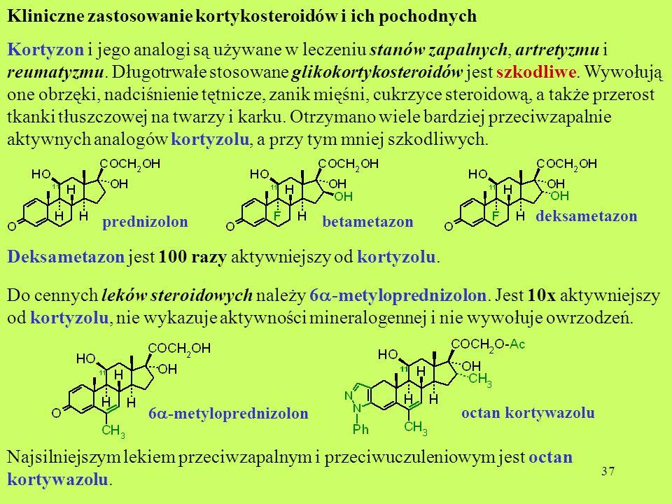 Kliniczne zastosowanie kortykosteroidów i ich pochodnych