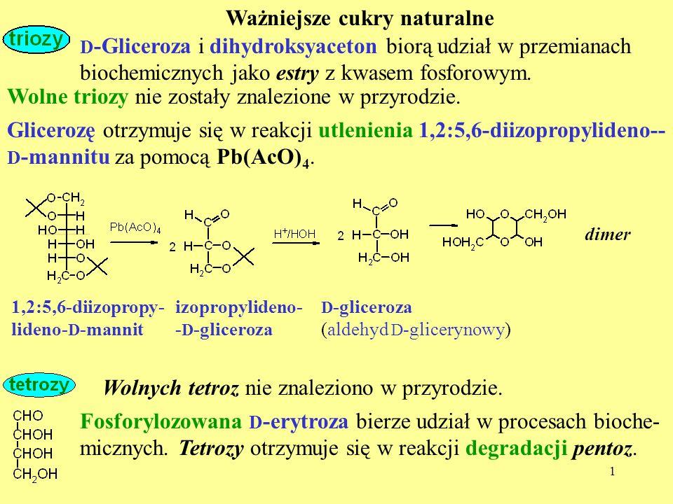 Ważniejsze cukry naturalne