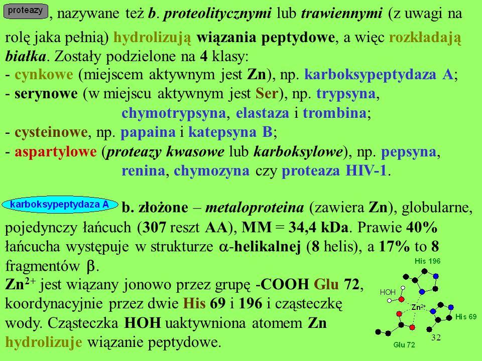 , nazywane też b. proteolitycznymi lub trawiennymi (z uwagi na