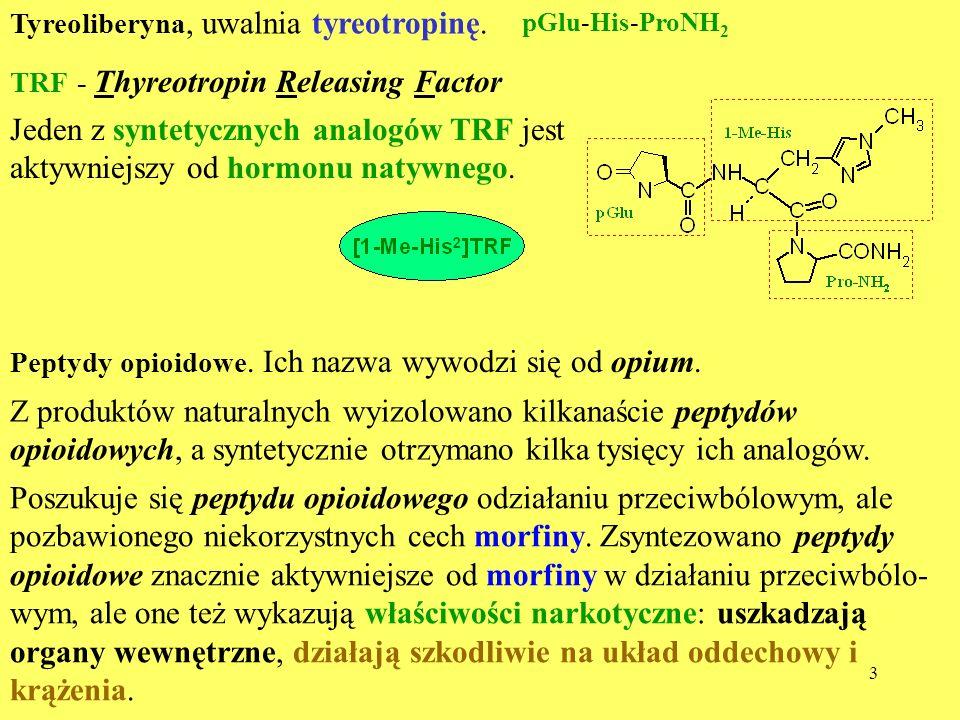 Jeden z syntetycznych analogów TRF jest