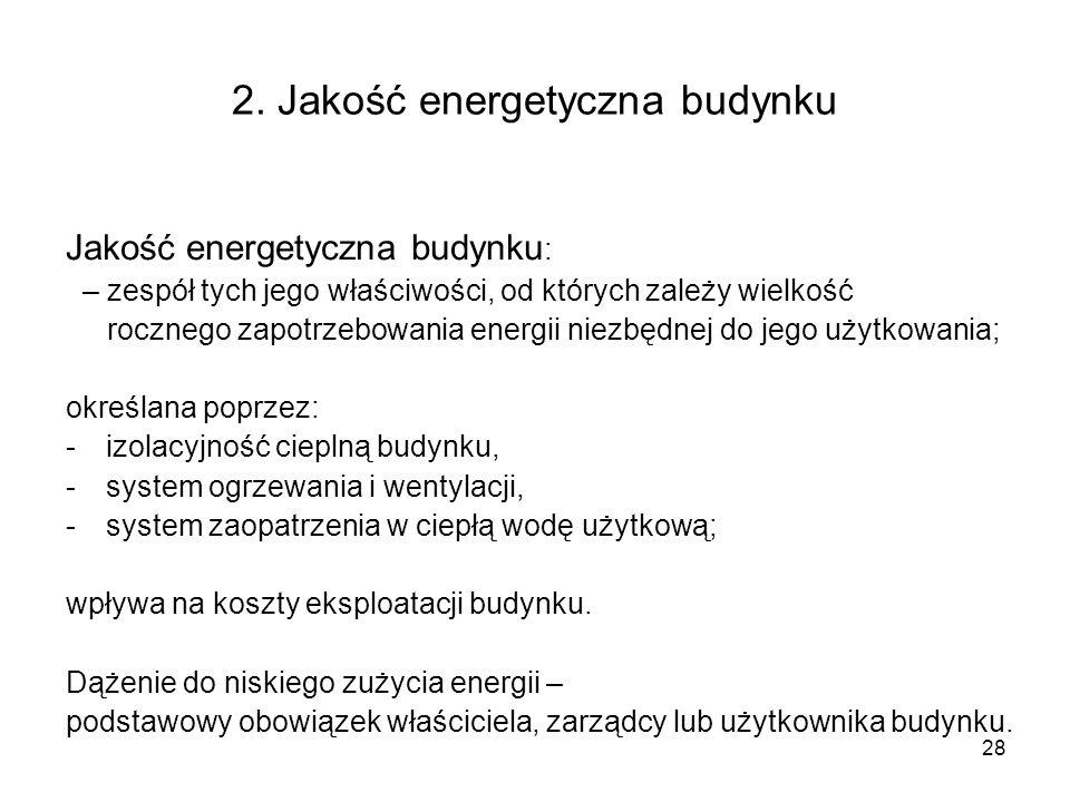 2. Jakość energetyczna budynku