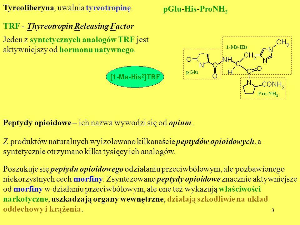 Tyreoliberyna, uwalnia tyreotropinę.