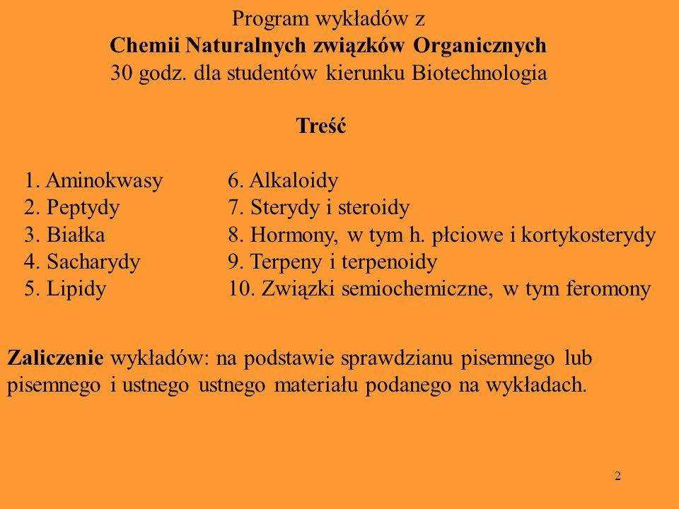 Chemii Naturalnych związków Organicznych