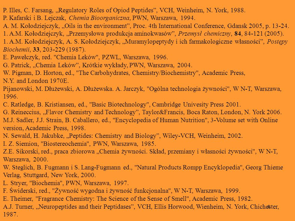 "P. Illes, C. Farsang, ""Regulatory Roles of Opiod Peptides , VCH, Weinheim, N. York, 1988."