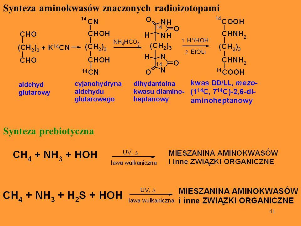 Synteza aminokwasów znaczonych radioizotopami