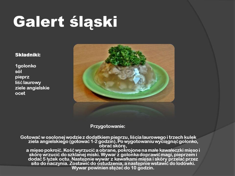 Galert śląski Składniki: 1golonko sól pieprz liść laurowy