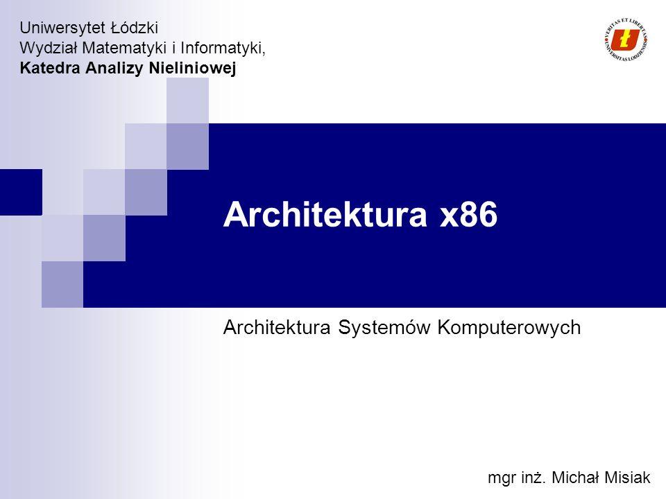 Architektura Systemów Komputerowych