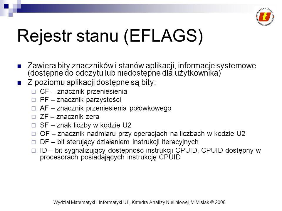 Rejestr stanu (EFLAGS)