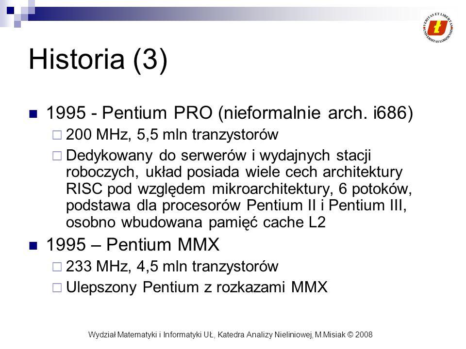 Historia (3) 1995 - Pentium PRO (nieformalnie arch. i686)
