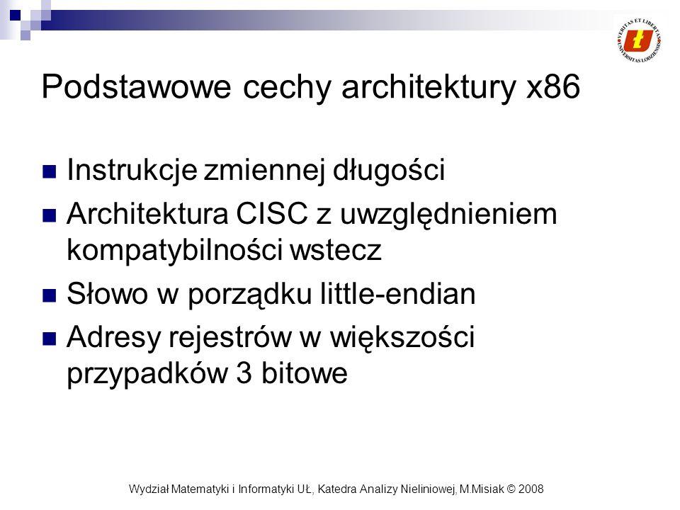 Podstawowe cechy architektury x86