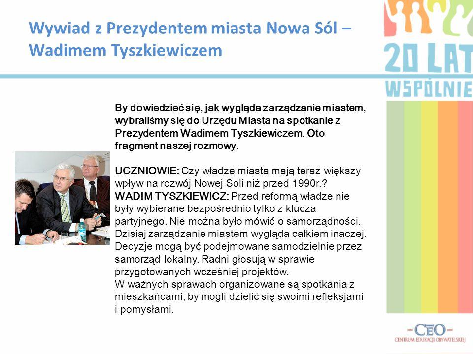 Wywiad z Prezydentem miasta Nowa Sól – Wadimem Tyszkiewiczem