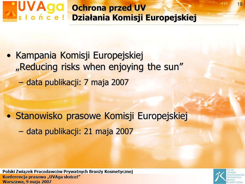 Ochrona przed UV Działania Komisji Europejskiej