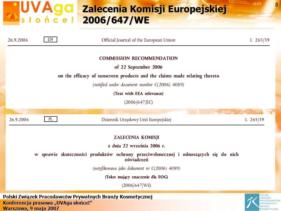 Zalecenia Komisji Europejskiej 2006/647/WE