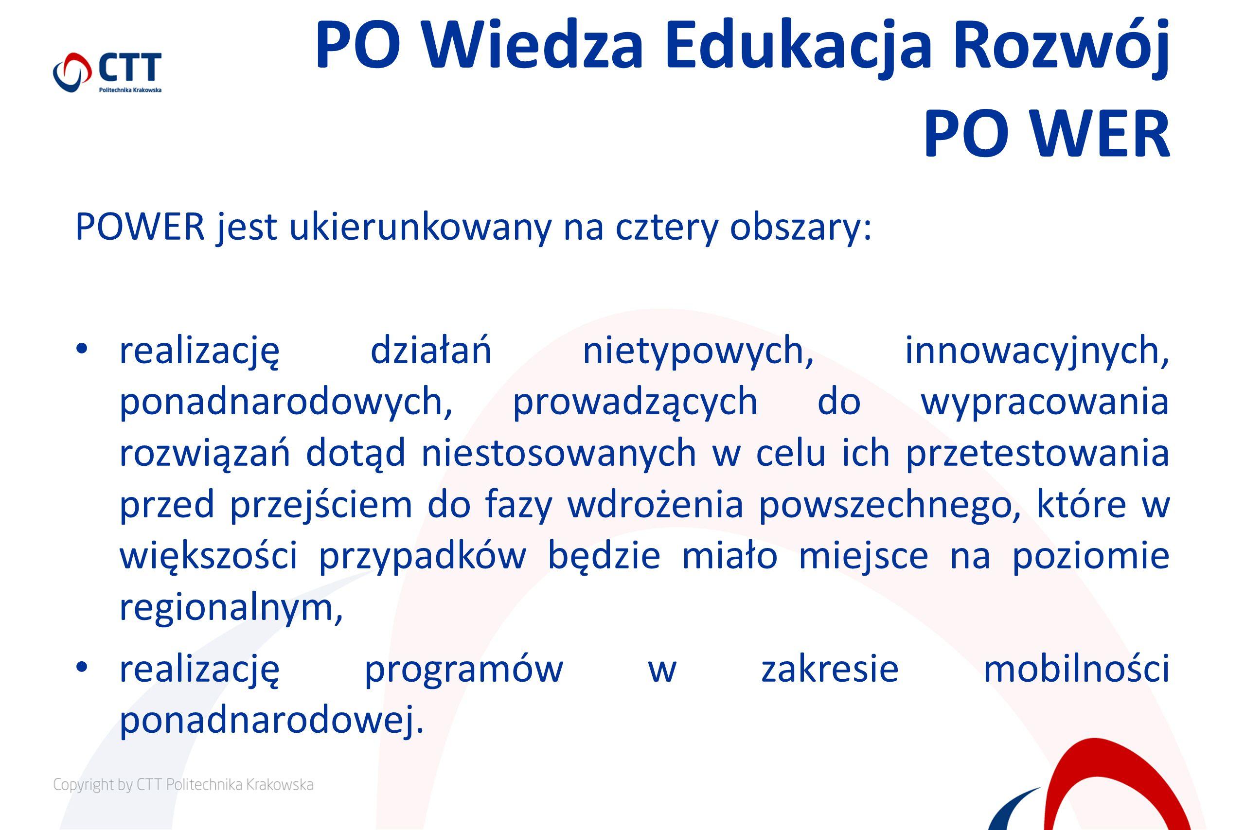 PO Wiedza Edukacja Rozwój PO WER