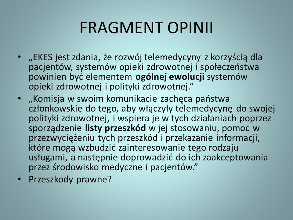 FRAGMENT OPINII