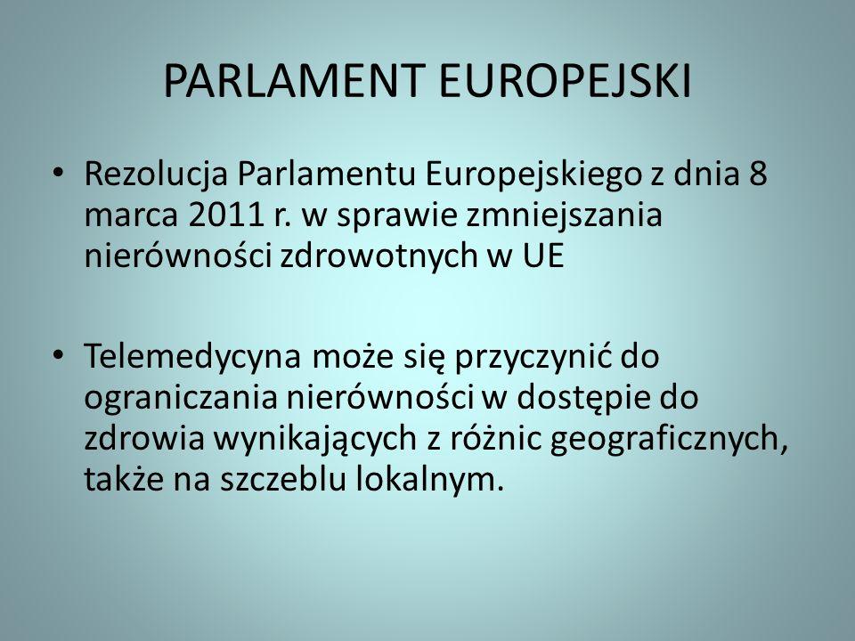 PARLAMENT EUROPEJSKI Rezolucja Parlamentu Europejskiego z dnia 8 marca 2011 r. w sprawie zmniejszania nierówności zdrowotnych w UE.