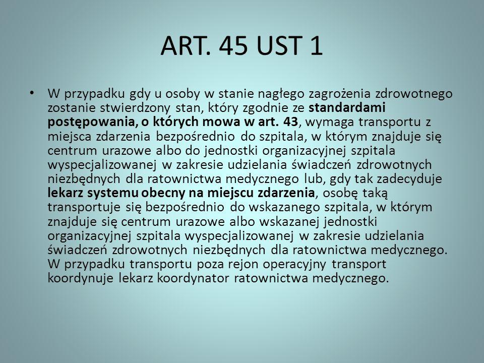 ART. 45 UST 1
