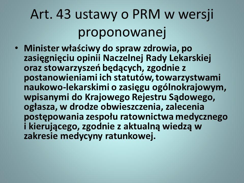 Art. 43 ustawy o PRM w wersji proponowanej