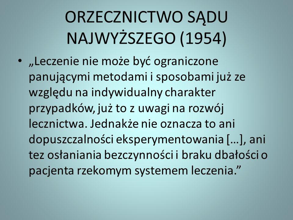 ORZECZNICTWO SĄDU NAJWYŻSZEGO (1954)