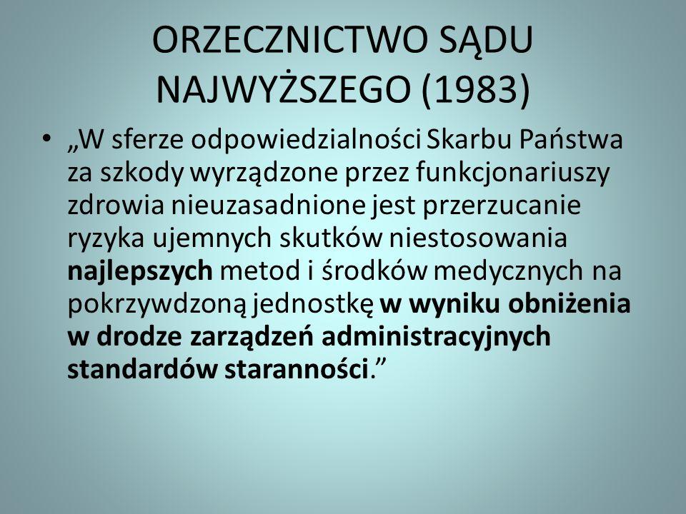 ORZECZNICTWO SĄDU NAJWYŻSZEGO (1983)