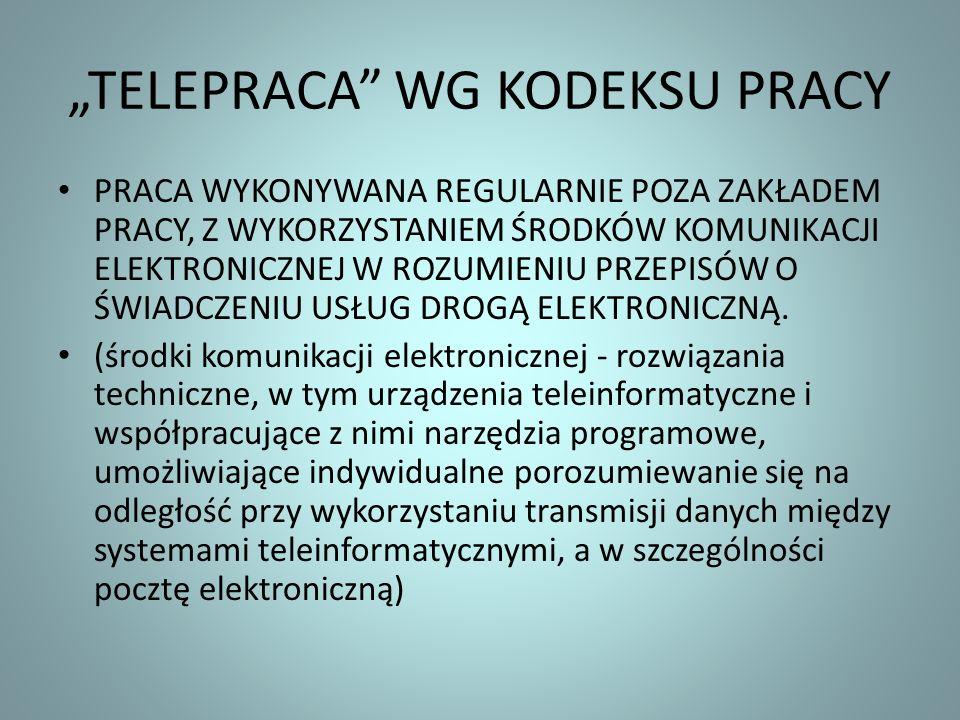"""""""TELEPRACA WG KODEKSU PRACY"""
