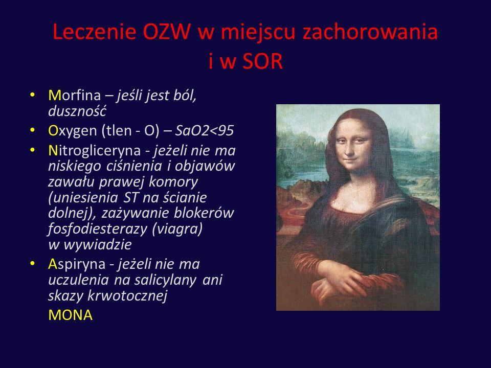 Leczenie OZW w miejscu zachorowania i w SOR