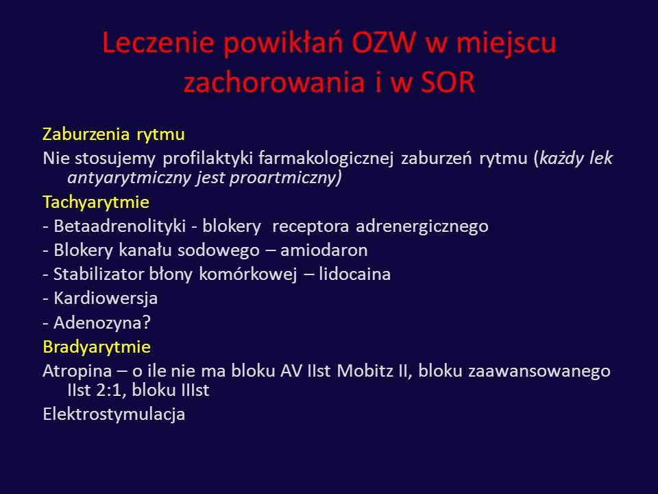 Leczenie powikłań OZW w miejscu zachorowania i w SOR
