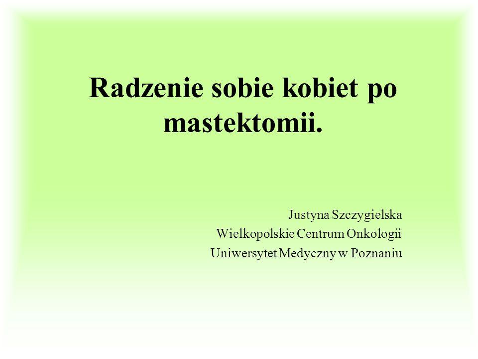 Radzenie sobie kobiet po mastektomii.