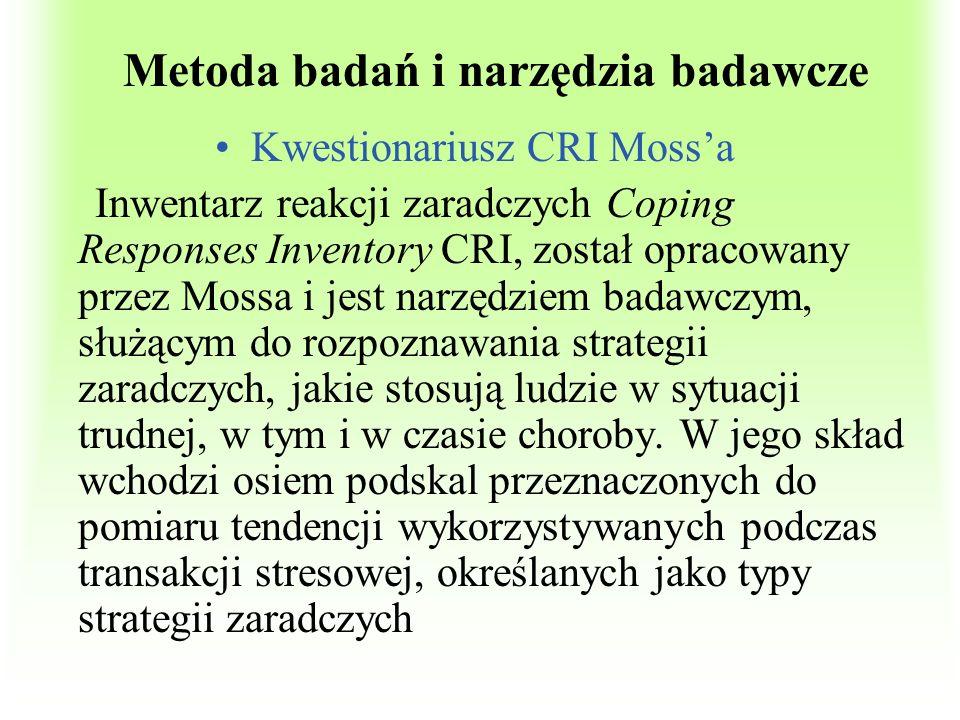 Metoda badań i narzędzia badawcze